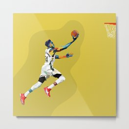 Giannis the Greek Freak Basketball Superstar Art Metal Print