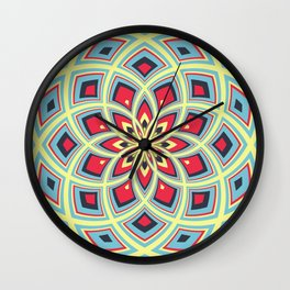 Spiral Rose Pattern D 3/4 Wall Clock