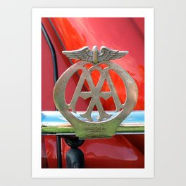 Automobile Association Badge Art Print