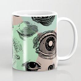 Vintage Eyeball Abstract Blob Background  Coffee Mug