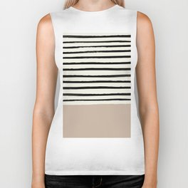 Latte & Stripes Biker Tank