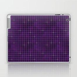 Purple retrowave grid Laptop & iPad Skin
