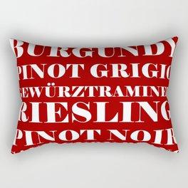 Wine Celebration - Red Rectangular Pillow