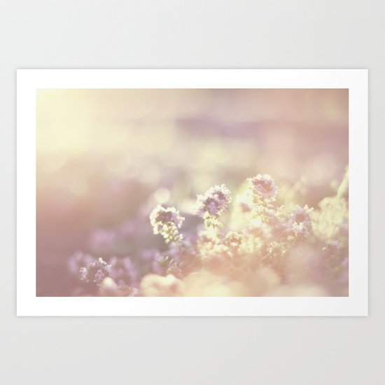 In a blur Art Print