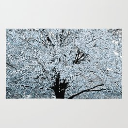 TREES WHITE ABSTRACT Rug