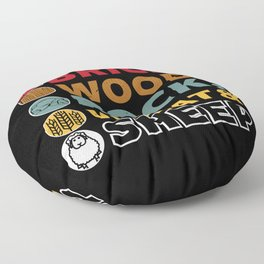 Brick Wood Rock Wheat & Sheep - Board Game Settler Floor Pillow