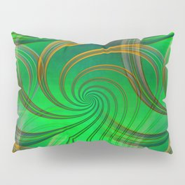 Pathways (green) Pillow Sham