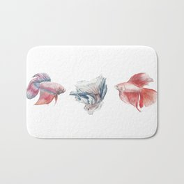 Fighting Fish Bath Mat
