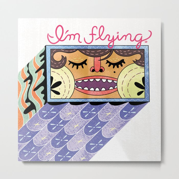 I'm Flying! Metal Print