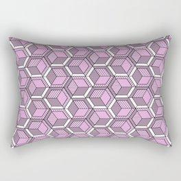 Pink and mint Rectangular Pillow