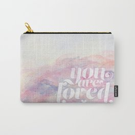You Are Loved Pastel Watercolors Carry-All Pouch