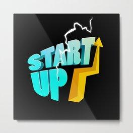 Start Up Business Entrepreneur Motivation Metal Print