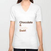 oitnb V-neck T-shirts featuring Chocolate & Vanilla Swirl OITNB by Maria Giorgi