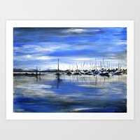 boats Art Prints featuring Boats by Averin Art