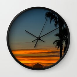 Ruby's and Palms Wall Clock
