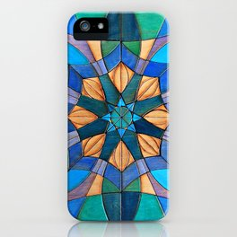 Leafy Mandala iPhone Case