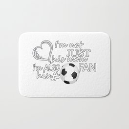 Football #1 Mom Bath Mat