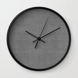 DESERT LINEN PRINT . SOLID GRAY Wall Clock