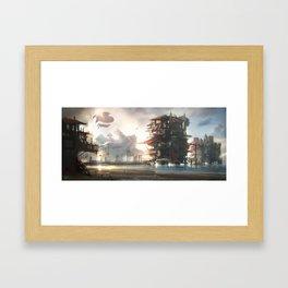 Stacked Village Framed Art Print