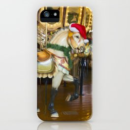 Holiday Carousel Horse iPhone Case