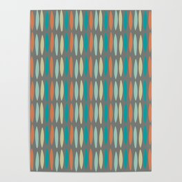 Contemporary Mid-Century Modern Geometric Pattern Poster