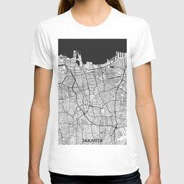 Jakarta Map Gray T-shirt