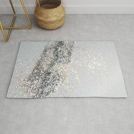 Silver Gray Glitter #2 #shiny #decor #art #society6 Rug
