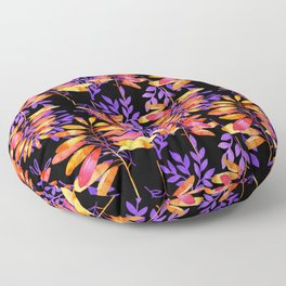 Psychedelic Fall pattern Floor Pillow