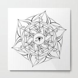 Eye of Horus Mandala Metal Print