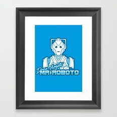 Domo Arigato Mr. Cyberman Framed Art Print