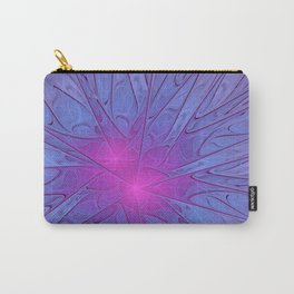 Pink Purple Abstract Flowers Carry-All Pouch
