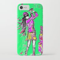 girl power iPhone & iPod Cases featuring Girl Power by sladja
