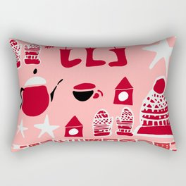 winter gear pink Rectangular Pillow