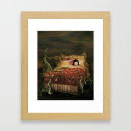 Something Under the Bed Framed Art Print
