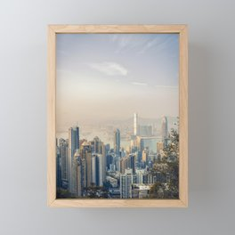 Hongkong Sunset Framed Mini Art Print