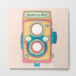 Yashica Vintage Camera Metal Print