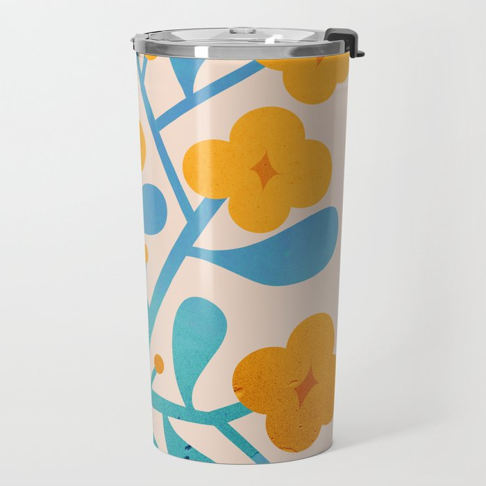 Abstraction_Floral_Blossom_02 Travel Mug