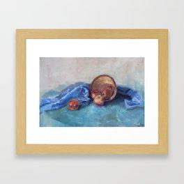 Still life with apples Framed Art Print