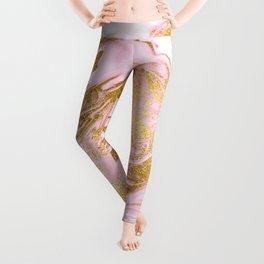Rose Gold Mermaid Marble Leggings