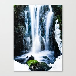 Early Spring Waterfall Canvas Print