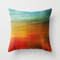 flight Throw Pillows featuring Flight by SensualPatterns