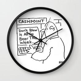 Bank Cashpoint Machine Gives Advice Wall Clock