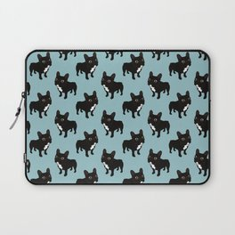 Brindle Frenchie likes to go for a walk to meet some friends Laptop Sleeve
