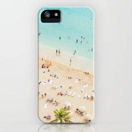 Waikiki beach in Hawaiian summer. iPhone Case