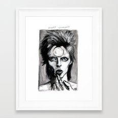 ziggy stardust Framed Art Print