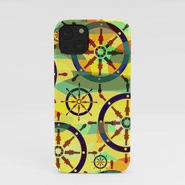 Ship wheels III iPhone Case