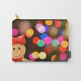 Gingerbread Bokeh Carry-All Pouch