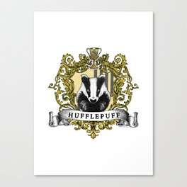 Hufflepuff Color Crest Canvas Print