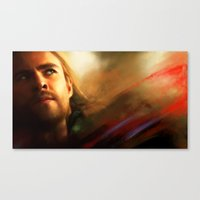 thor Canvas Prints featuring Thor by Kate Dunn