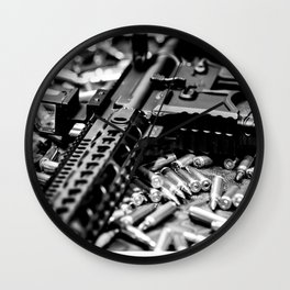 AR-15 Rifle Wall Clock